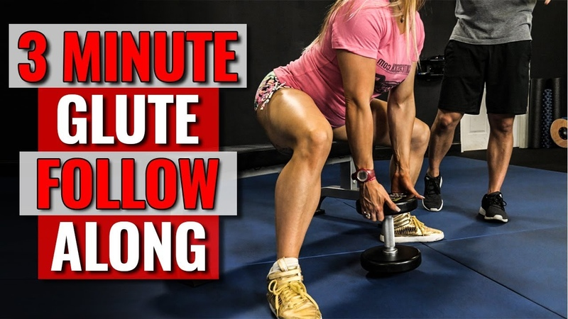 3 Minute GLUTES Thighs Workout ROUNDER Butt Stronger LEGS