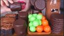 ASMR CHOCOLATE BALLS NUTELLA CAKE CHOC MARSHMALLOWS WAGON WHEELS HOT COCOA EATING SOUNDS