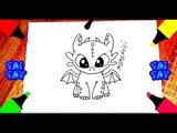 Как нарисовать БЕЗЗУБИКА Ночная фурия Рисунки для срисовки