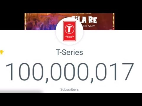 The moment T-Series hit 100,000,000 subscribers...