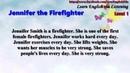 Learn English via Listening Level 1 Unit 7 Jennifer The Firefighter