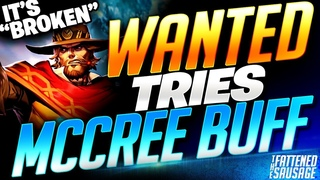 """RANK 1 McCree Tries NEW MCCREE BUFF!! """"It's SO BROKEN!"""" First Impressions & Gameplay"""