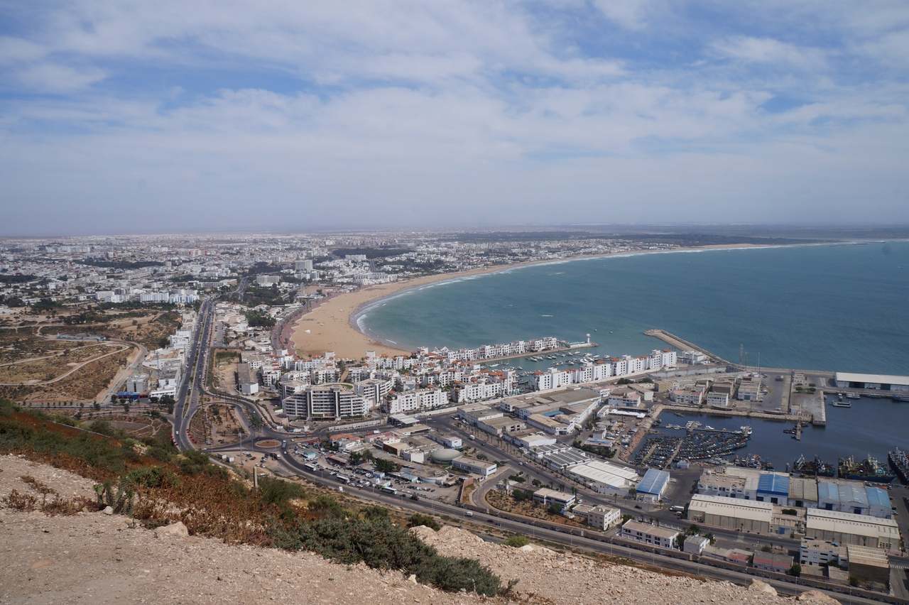 Агадир - главный морской курорт Марокко