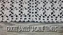 ВЯЖЕМ БАКТУС ШАЛЬ КРЮЧКОМ JASMINE FLOWERS HOW TO CROCHET BAKTUS SHAWL