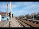 Электровоз ЧС7-188 с пассажирским поездом на станции Изюм