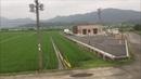 мини путешествие мимо рисовых полей до Yukuhashi