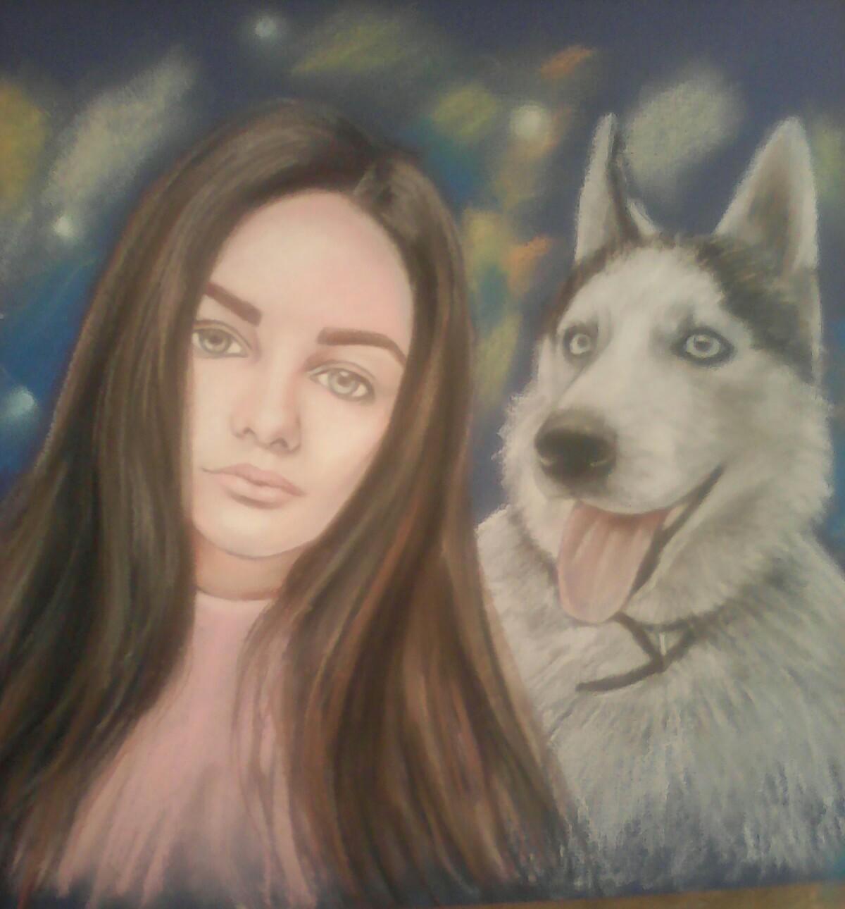 Портрет запоминающийся и трогательный подарок ♥ Один из лучших подарков своим близким и родным)))☀