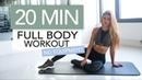20 MIN FULL BODY WORKOUT No Equipment | Pamela Rf