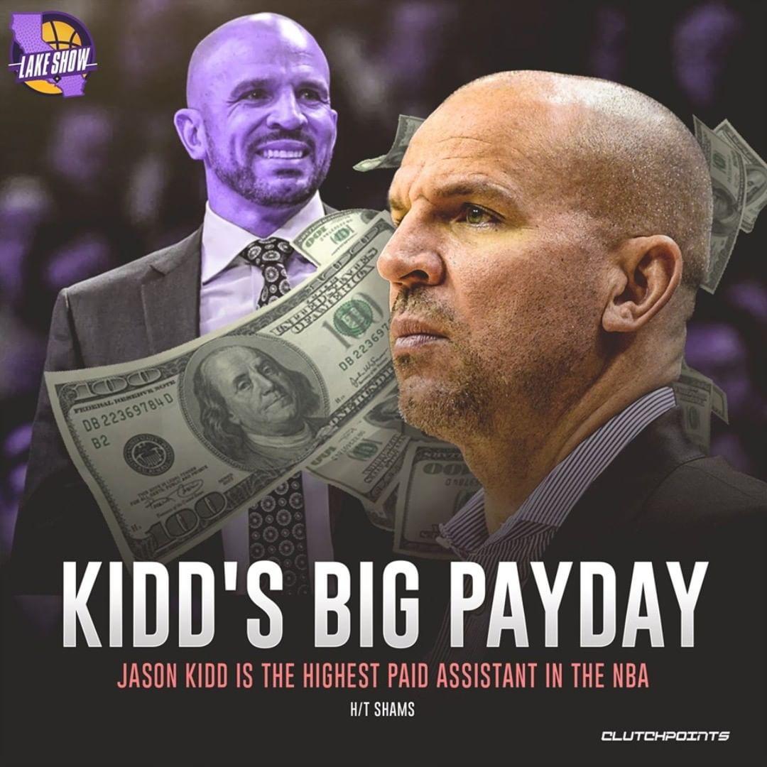 Джейсон Кидд стал в «Лейкерс» самым высокооплачиваемым ассистентом лиги