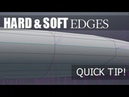 Blender Tutorial - Hard and Soft Edges