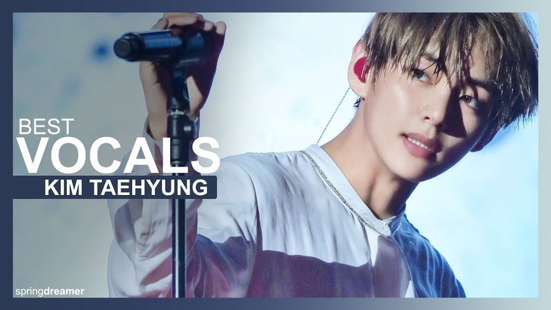 Bts (방탄소년단) — kim taehyung v ❀ best live vocals