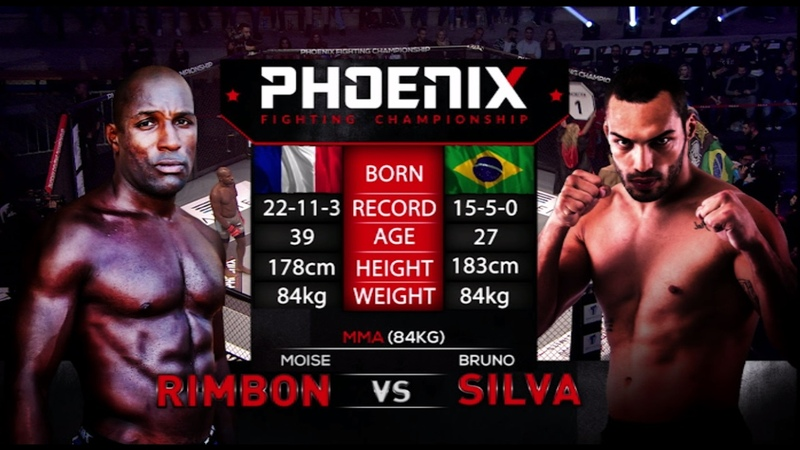 Moise Rimbon vs Bruno Silva Full Fight (MMA) - Phoenix 1