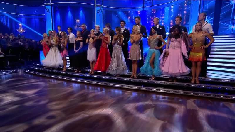 Röstredovisningen I Det Andra Avsnittet Av Let's Dance 2019.