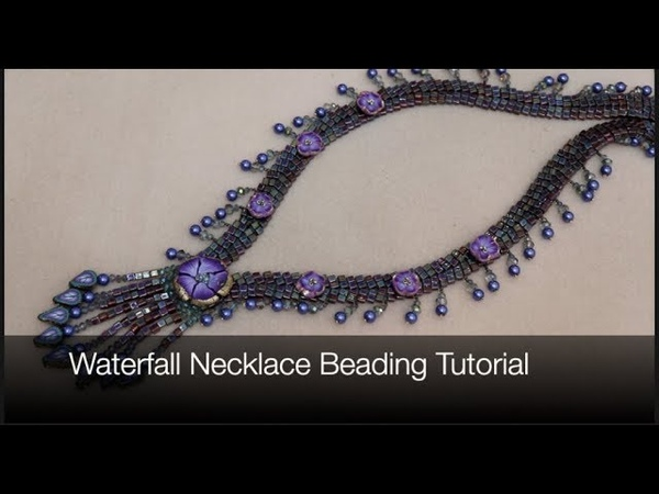 Waterfall Necklace Beading Tutorial with Polymer Clay Beads and more jewelry tutorial