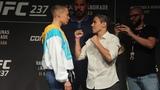 UFC 237 Rose Namajunas vs. Jessica Andrade Staredown - MMA Fighting