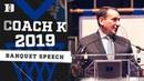 Coach K 2018-19 Season Review | 2019 Duke Basketball Banquet