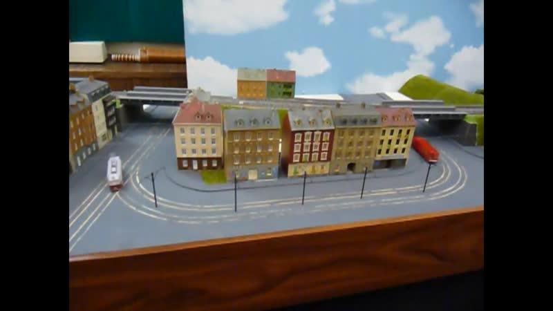 23 03 2019 ЦМЖТ на Садовой улице новый модуль с трамваем и автобусом в старом макете в малом зале на первом этаже