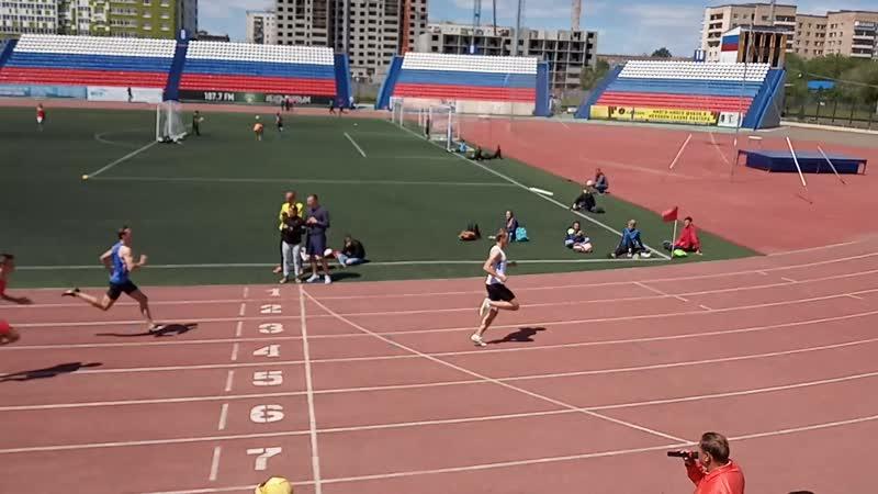 Финал в беге на дистанции 200 м среди мужчин на чемпионате области по лёгкой атлетике