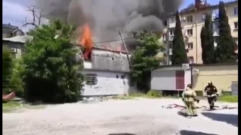Слаженная работа огнеборцев 🚒