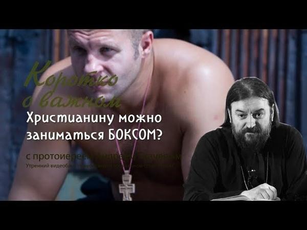 Можно ли христианину посещать секцию бокса? Пртоиерей Андрей Ткачев