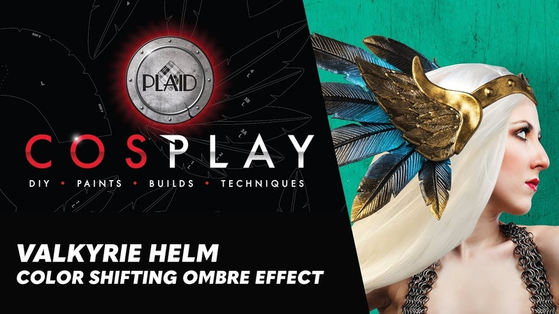 Cosplay Painting Tutorial Valkyrie Helm – Creating a Color Shifting Effect