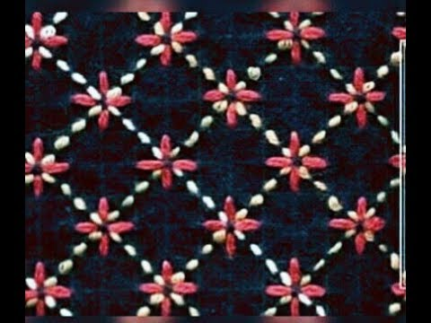 Nakshi Kantha Design Stitching tutorial,How to stitch nakshi kantha, নকশীকাঁথা নকশা,