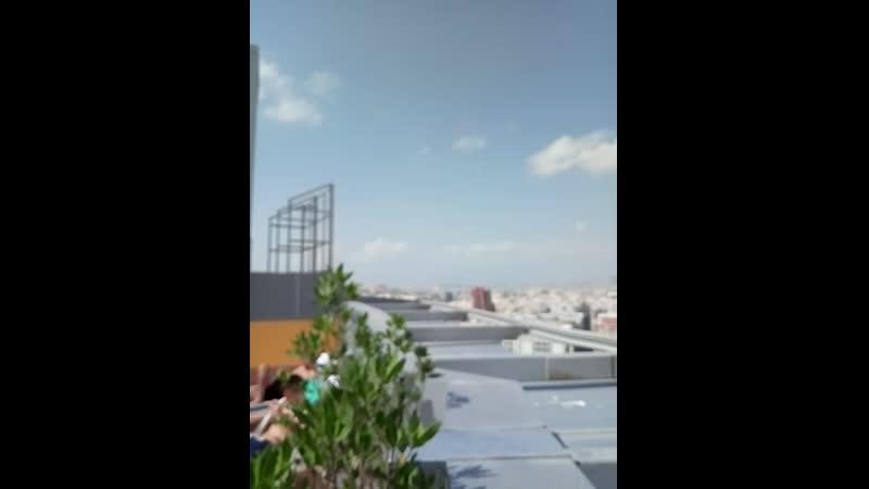 """Вид с 18 этажа наш отель Перл парк"""""""