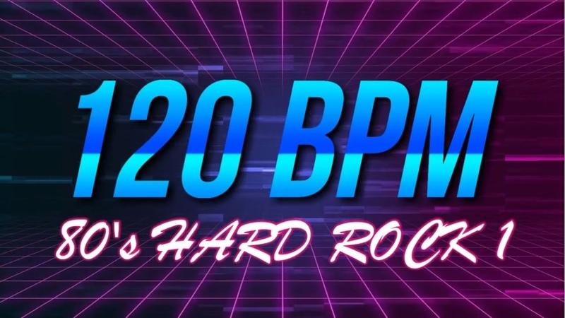 120 BPM - 80's Hard Rock - 4/4 Drum Track - Metronome - Drum Beat