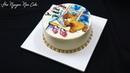 Hướng dẫn trang trí bánh kem vẽ hình gấu con bằng chất liệu kem bơ
