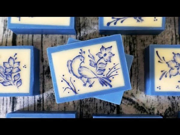 青花瓷畫皂DIY - brush embroidery on soap for the August soap challenge club_regular category- 手工皂