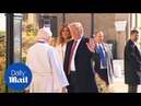 President Trump and Melania attend church mass on St. Patrick's Day