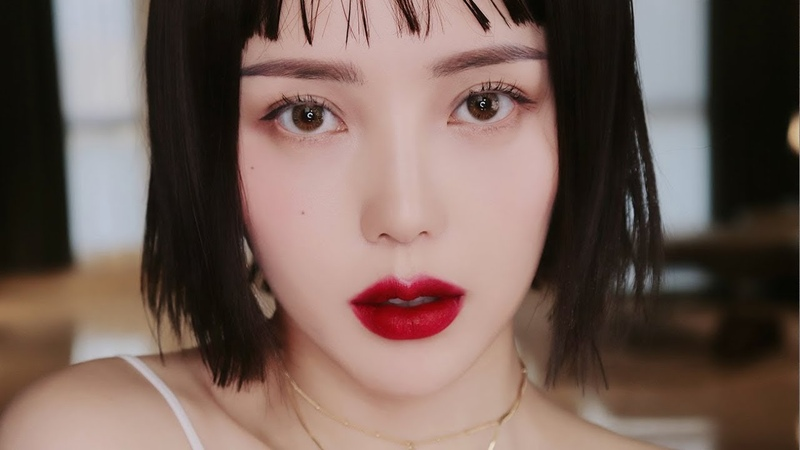 🍒Cherry Red Lips Makeup (With sub) 체리 레드 립 메이크업
