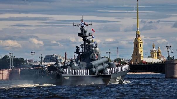 Морской парад в Петербурге