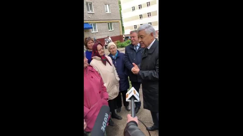 Фарит Мухаметшин в Лениногорске на встрече с жителями. 17.05.2019