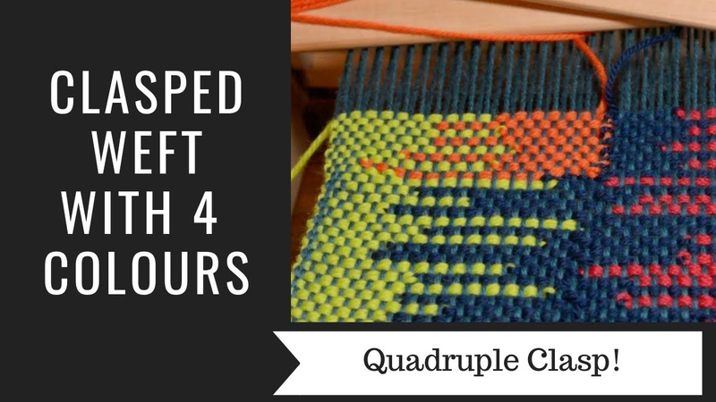 Clasped weft with 4 colours!