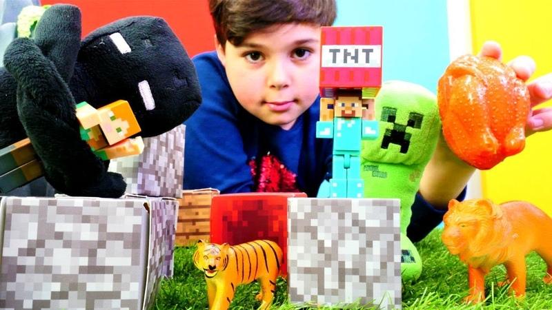 Minecraft. Alex'i TNT yardımıyla mağaradan çıkarıyoruz