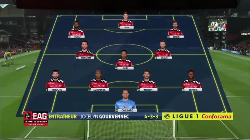 Ligue 1 Видеообзор матча Генгам 1 0 Дижон 29 й тур 16 03 2019г Сезон 2018 2019