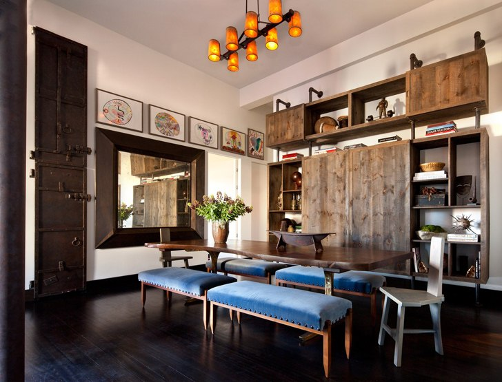 Современные апартаменты с террасой в Нью-Йорке