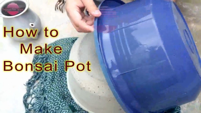 How to Make Large Bonsai Pot at home by using plastic tubs Urdu Hindi English