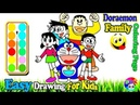 Doraemon Nobita Family Coloring | Fun Painting For Toddlers And Drawing For Kids