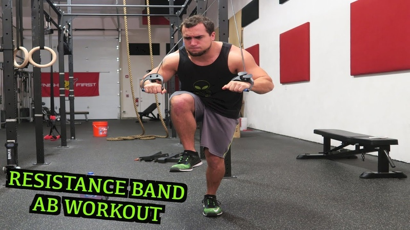 Intense 5 Minute Resistance Band Ab Workout