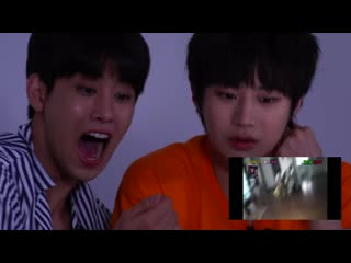 The reaction of the KOREAN BOY IDOL who saw the scariest horror movies in the world?!
