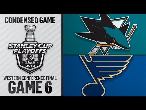 NHL 19 PS4. 2019 STANLEY CUP PLAYOFFS WESTERN CONFERENCE FINAL GAME 6 SHARKS VS BLUES. 05.21.2019. (NBCSN) !
