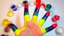 Учим цвета с веселой песенкой Обучающий мультик Песня Про пальчики Рисуем на руке
