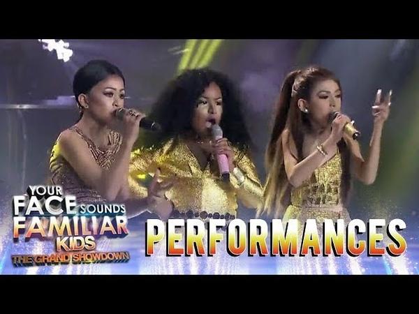 Your Face Sounds Familiar Kids 2018 TNT Boys as Jessie J., Ariana Grande, Nicki Minaj | Bang Bang