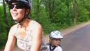 С ребенком в велокресле Hamax Smiley. Путешествие на озеро.