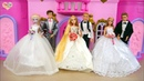 Rapunzel Elsa Barbie Wedding Shop Wedding Dress Shopping Barbie Toko pernikahan Vestido de casamento