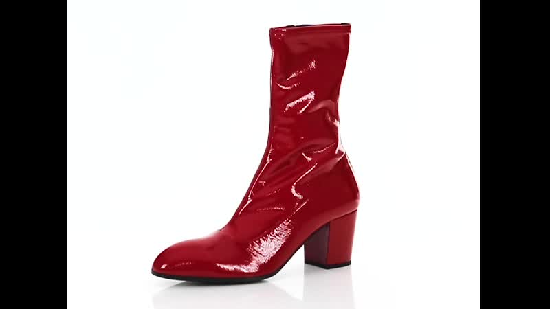GUCCI Pryntil patent leather boots