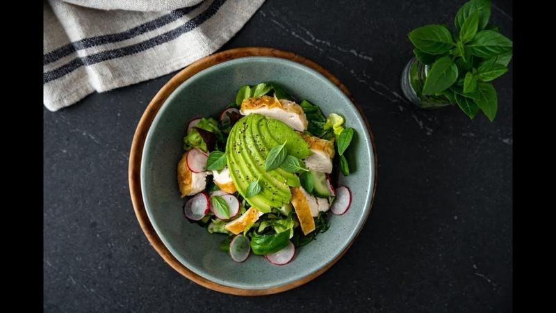 Roasted Chicken Avocado Salad