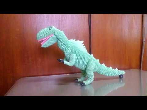 How to make origami 3d tyranosaurus PART 2 - easy